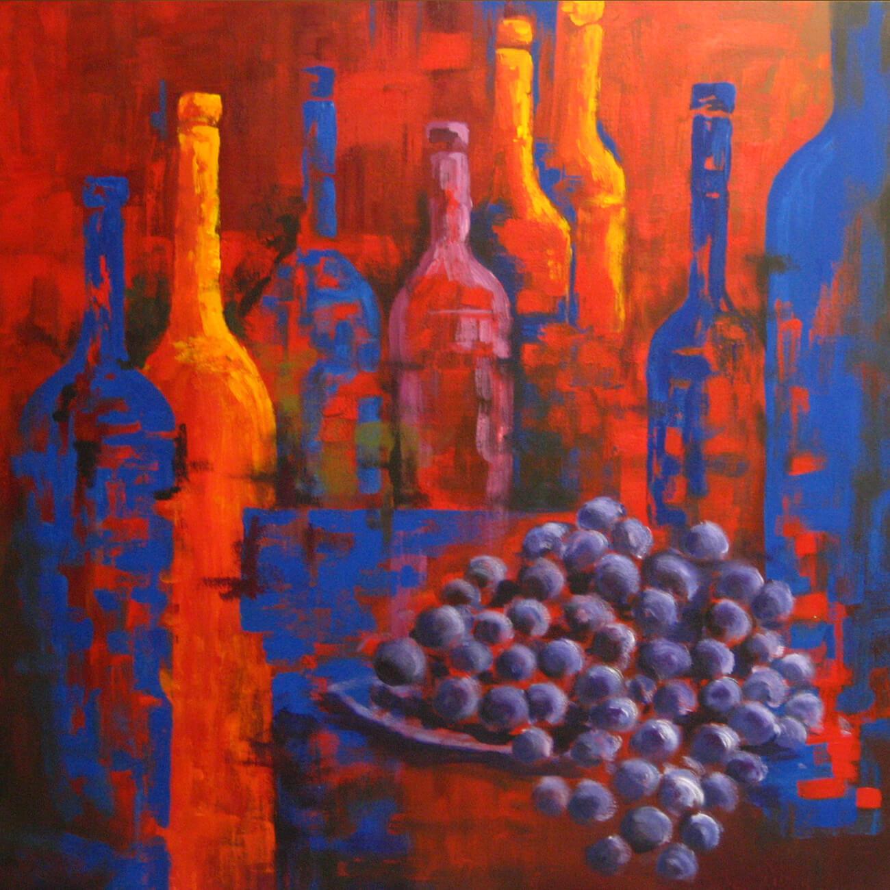 Botellas-en-rojo